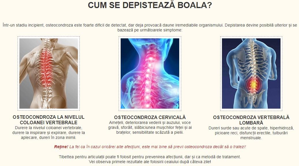 cu osteochondroza cervicală este posibilă durerea articulară)